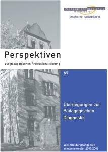 Perspektiven zur pädagogischen Professionalisierung